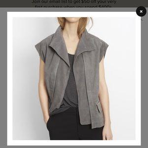 Vince, grey suede vest. ✨